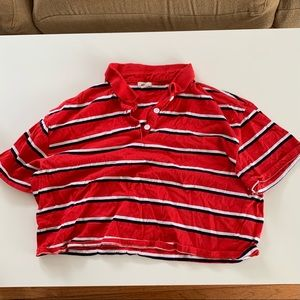 Garage - Stripped Cropped Polo